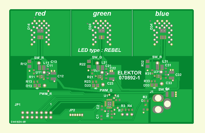 RGB LED Mood lightning Pcb 1