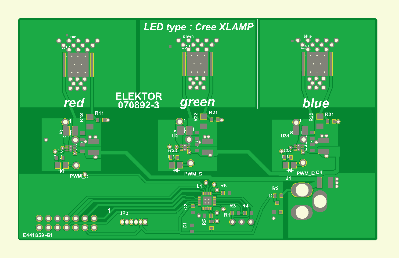 RGB LED Mood lightning Pcb 3