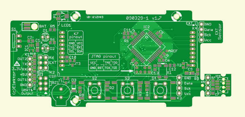 Cloud Altitude Meter PCB