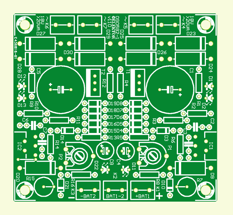 Power Charger for ElektorWheelie PCB