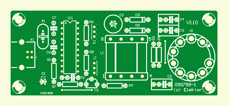 USB Magic Eye PCB