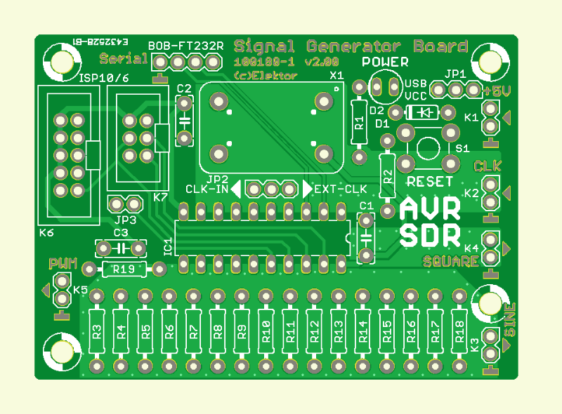 AVR Software Defined Radio (1) (Signal Generator board)