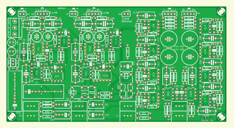 Preamplifier 2012 (110650-1) (Line-In/Tone/Volume board)