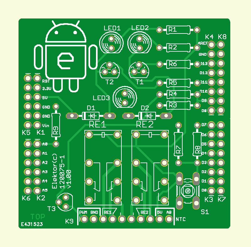 Android Switch Interface PCB