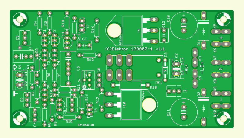 High-End Amplifier for Active Speakers - PCB (130007-1)