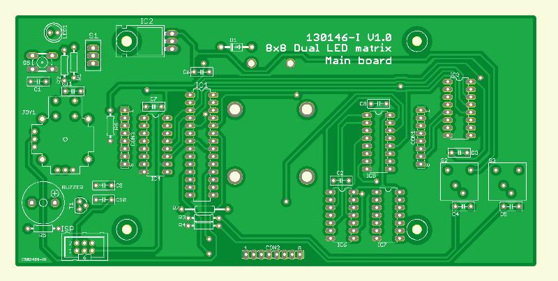 8x8 Two-color LED Matrix (PCB main Board)