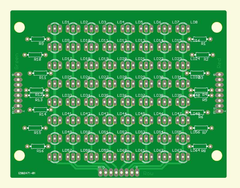 8x8 Two-color LED Matrix (PCB LED Board)