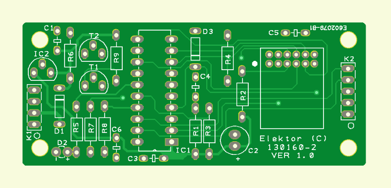 Model Train Dual Radio Control (receiver PCB)