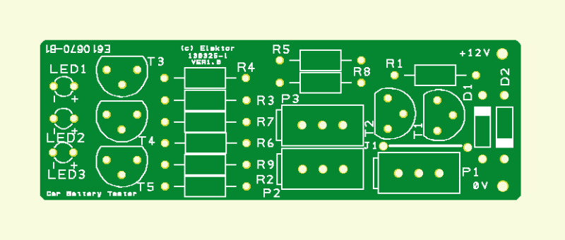 Car Battery Tester PCB (130325-1)