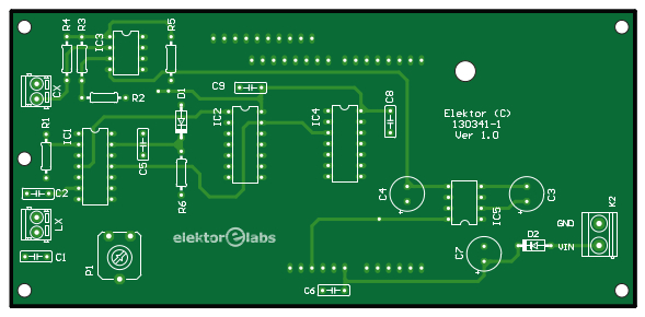 LC Meter bare PCB (Platino Add-on system) (130341-1)