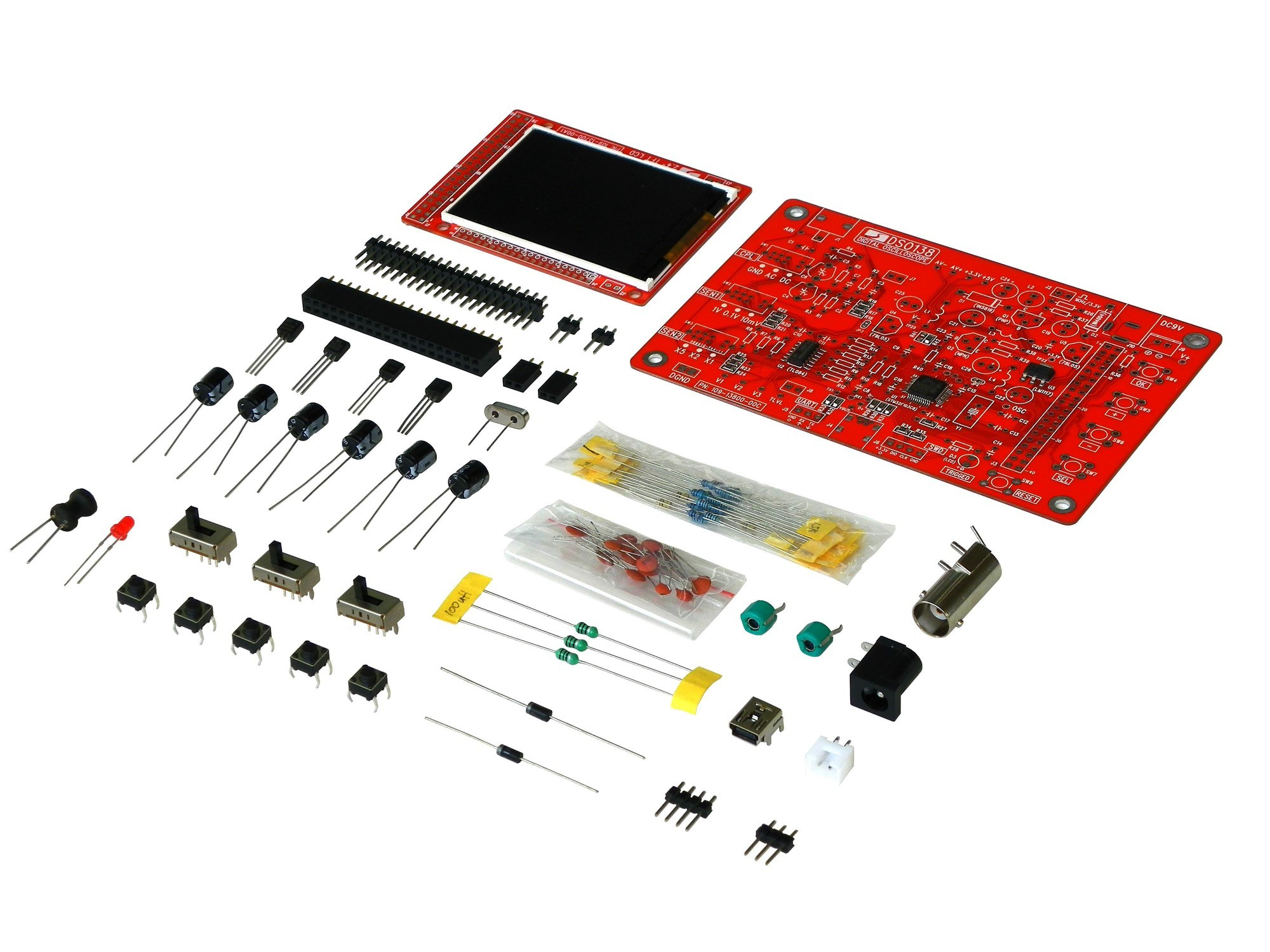 DSO138 Oscilloscope DIY Kit