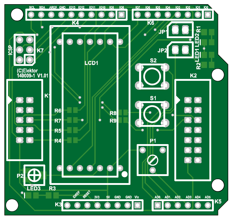 Arduino Extension Shield PCB (140009-1)