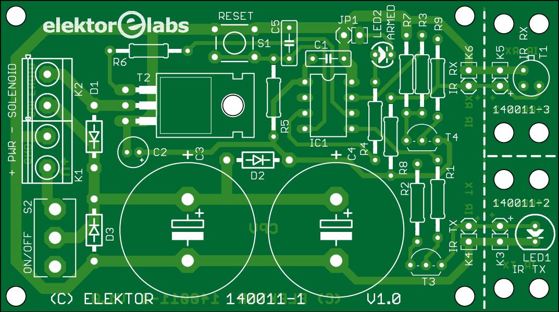 Animal Friendly Mousetrap PCB (140011-1)