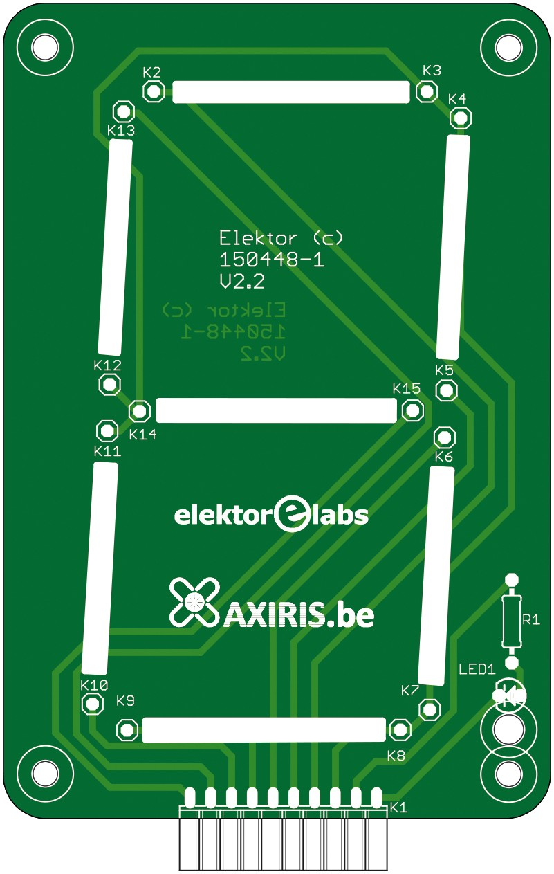 7-Segment-Display  (Gerber 150448-1)