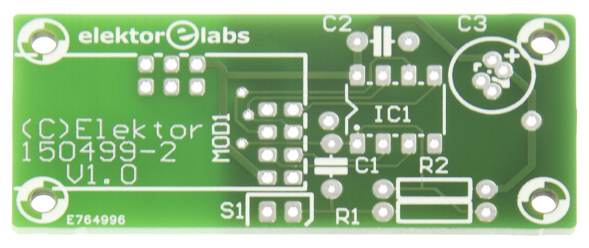 Wireless Quiz Button transmitter pcb (150499-2)