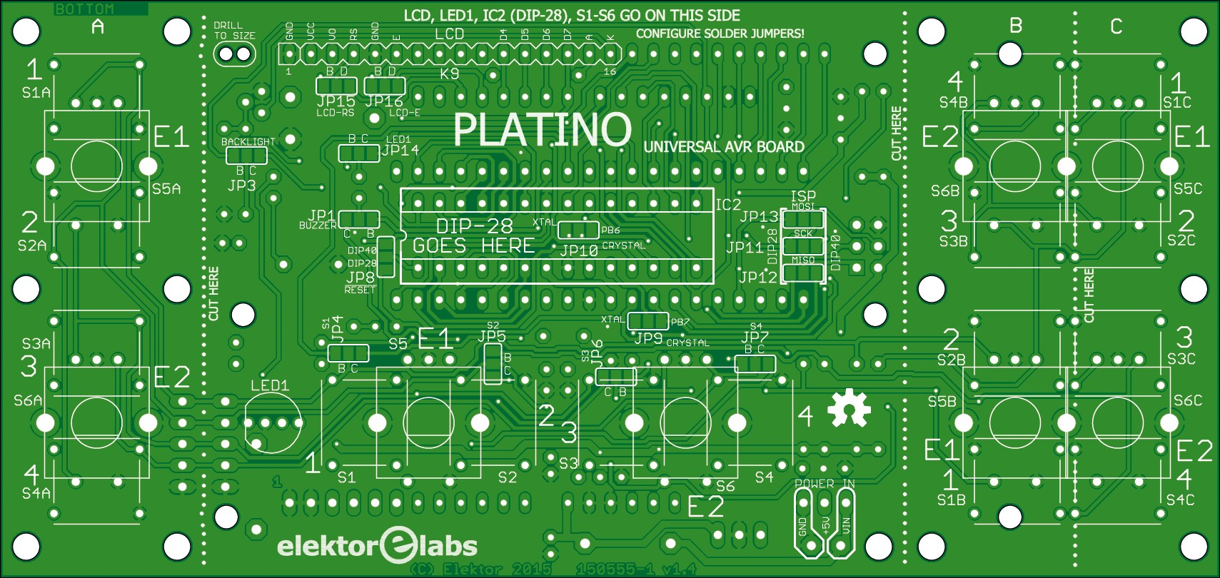 Platino Adjustable Bench Power Supply 130406 1 Elektor Labs Pcbofdigitaltemperaturesensorcircuitusinglm335z V14 150555