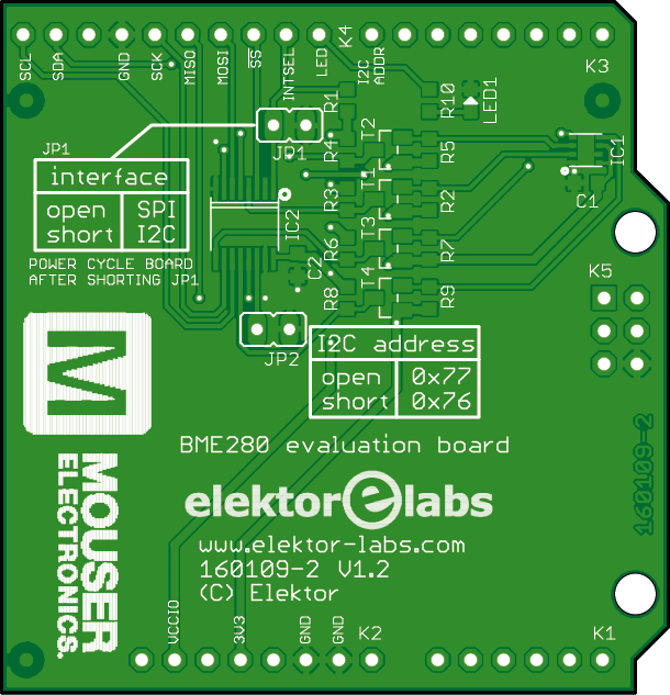 BME280 evaluation shield (160109-2)