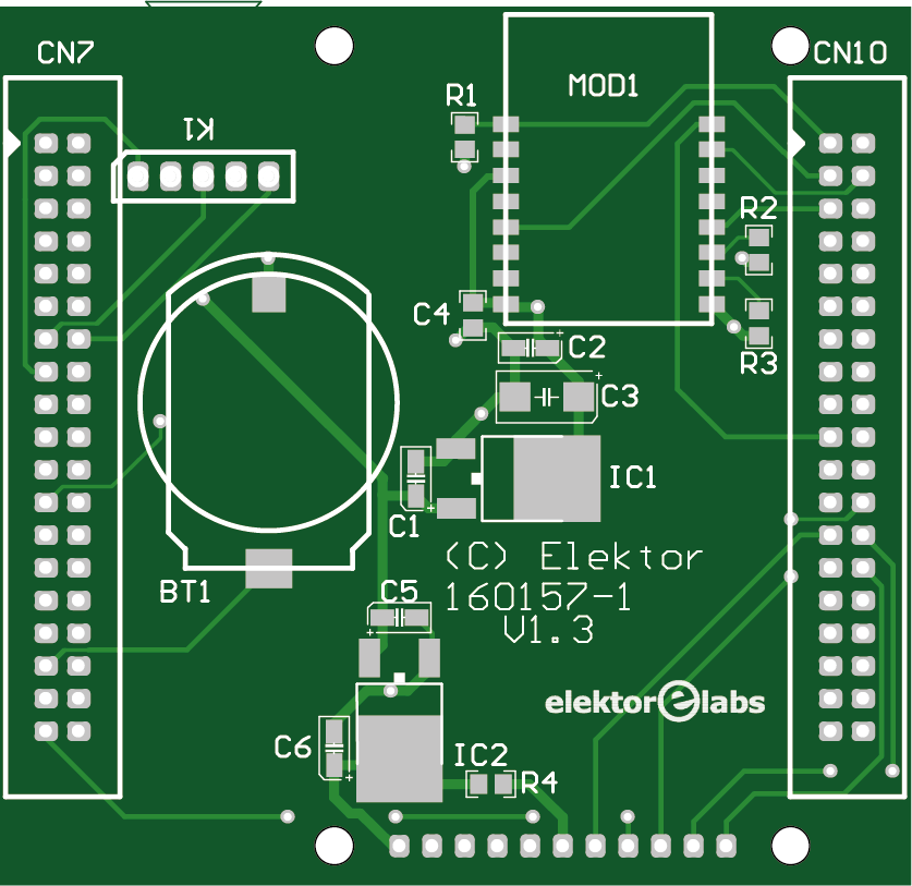 Weather display - bare PCB (160157-1)