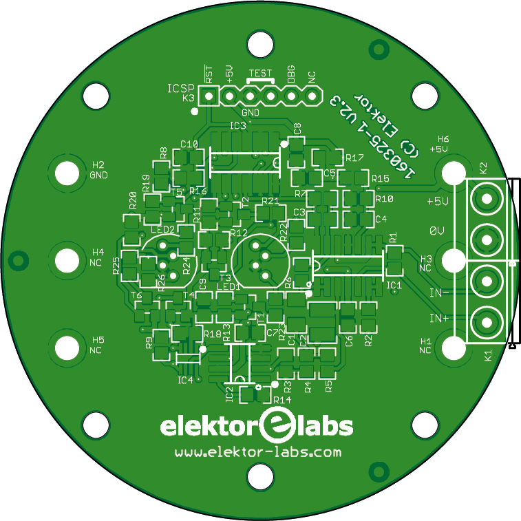 Bio light - bare PCB (160325-1)