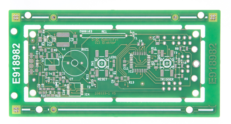 GoNotify, a Flexible IoT Sensor Interface  - bare PCB (160333-1)