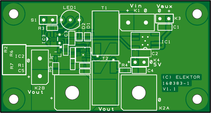 Soft start labvoeding - bare PCB (160383-1)