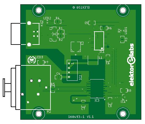 usb to dmx - bare pcb (160493-1)
