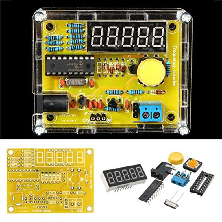 Geekcreit Frequency Tester Kit with case (1 Hz to 50 MHz)