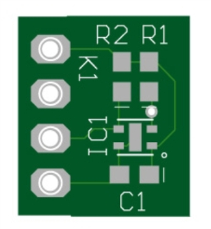 ENS210 humidity sensor BoB - bare PCB (180306-1)