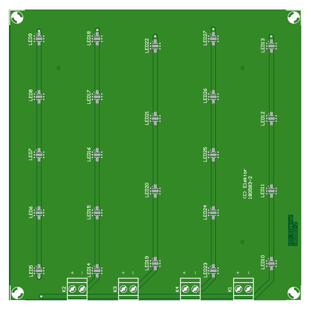 Horticulture Box LED Board - Bare PCB