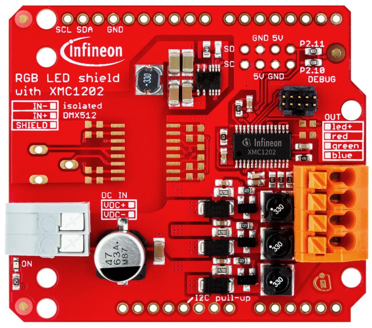 Infineon RGB LED Lighting Shield with XMC1202