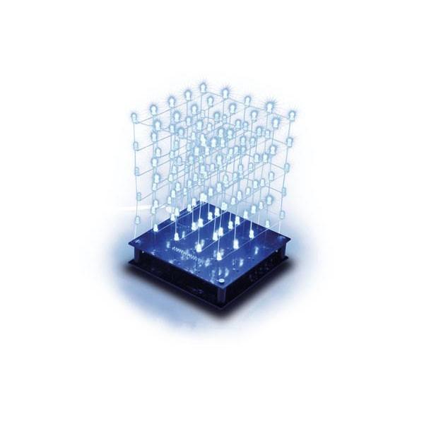 3D LED Cube 5x5x5 (blue LED)