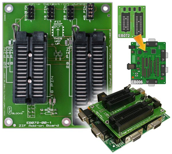 ZIF socket programmer adaptor (EB072)