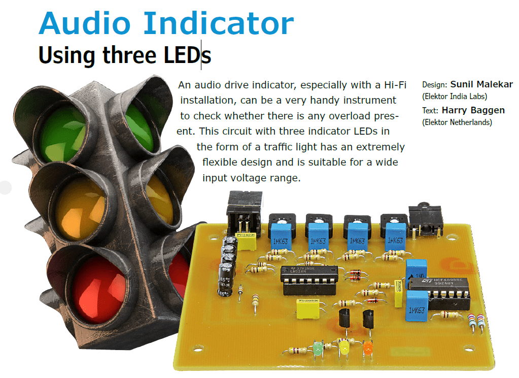 Project No. 50: Audio Indicator Using three LEDs (PDF)