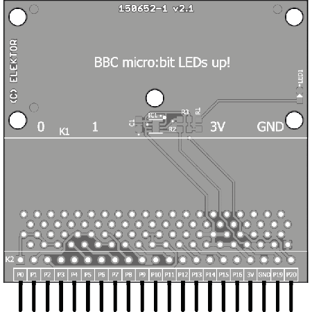 BBC micro:bit weather station - bare PCB (150652-1)