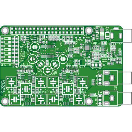 RPi High End Audio DAC - bare PCB  (160198)