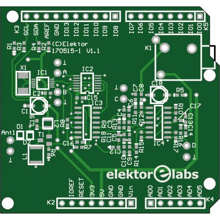 Elektor SDR Shield 2.0 - bare PCB (170515-1)