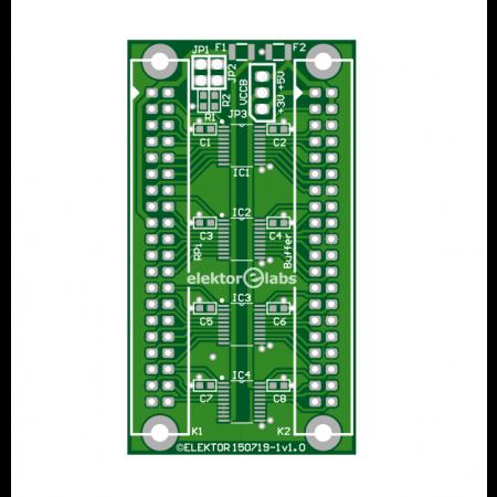 Raspi buffer board - bare PCB