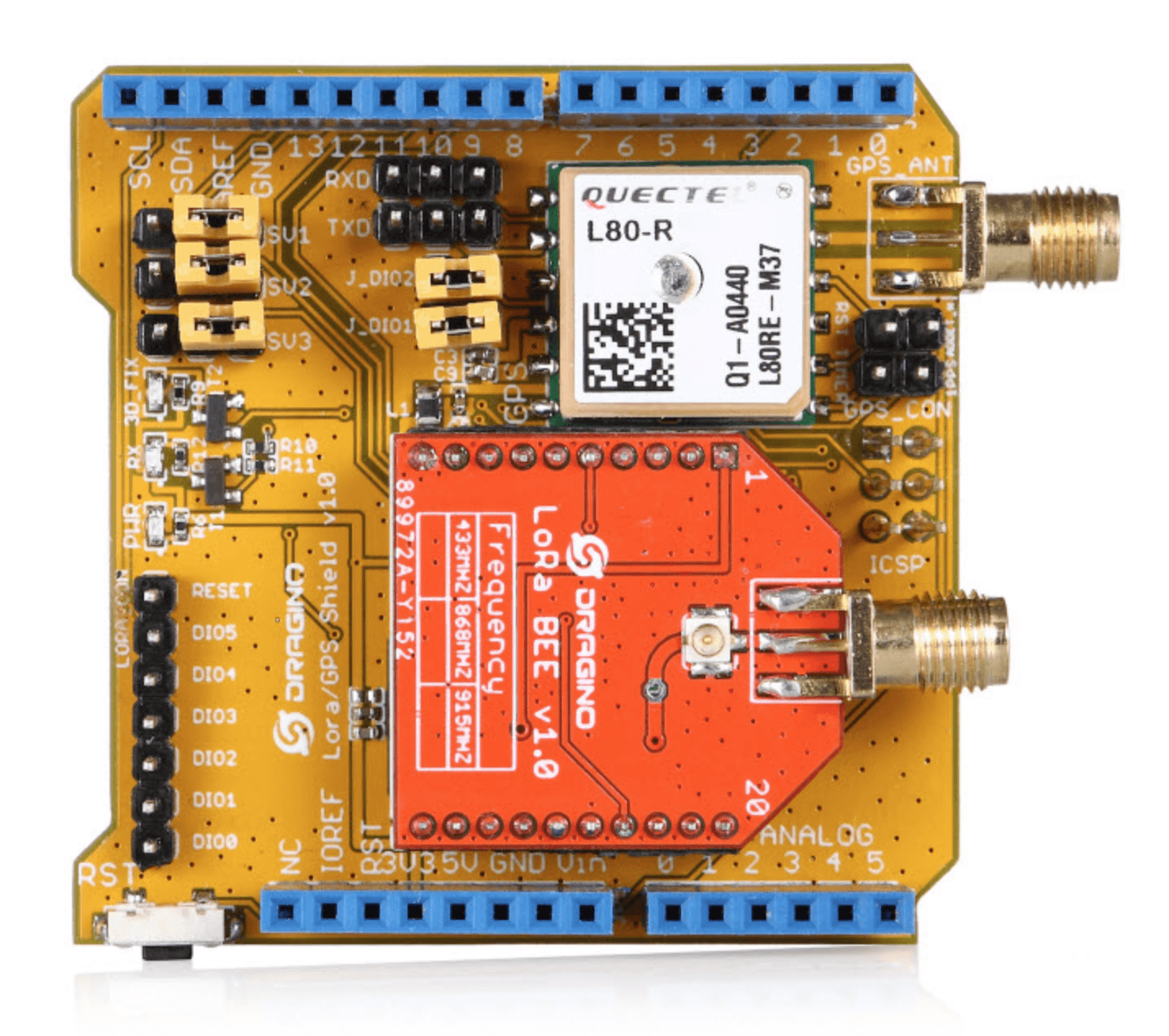 Dragino Lora/GPS Expansion for Arduino 868 MHz