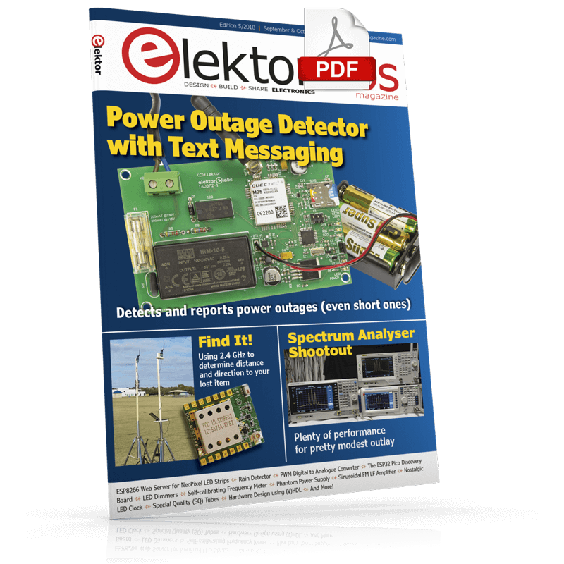 Elektor Magazine EN September/October 2018 (PDF)