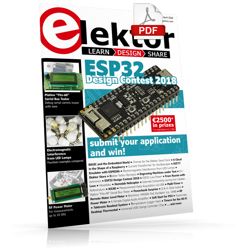 Elektor Magazine EN March/April 2018 (PDF)