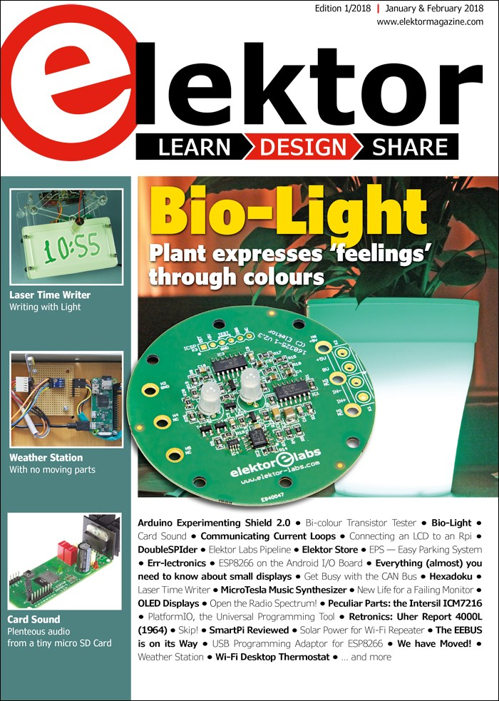 Elektor Magazine EN January/February 2018 (PDF)