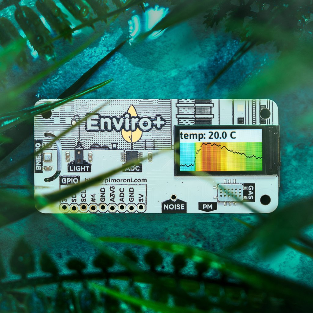 Enviro+ (Environmental Monitoring Station for RPi)