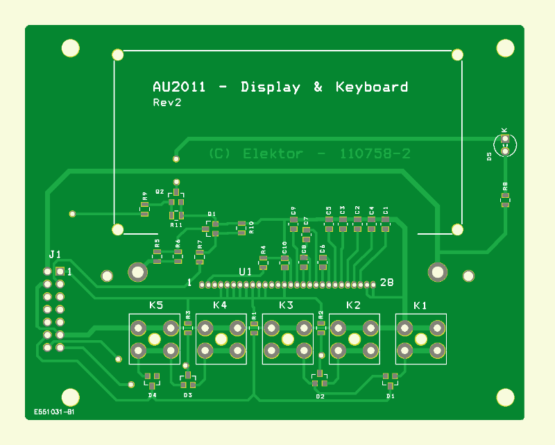 500 ppm LCR Meter (LCD PCB 110758-2)