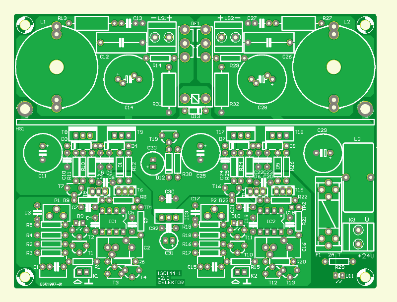 555 Class-D Audio Amplifier PCB