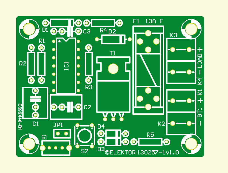 Zero-Electrolytics 555 Timer PCB