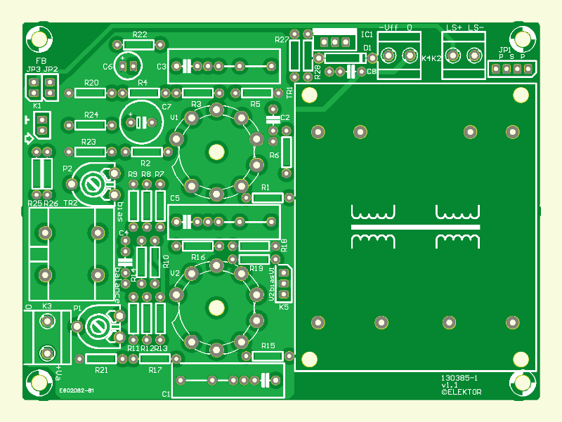 Compact Tube Amplifier PCB