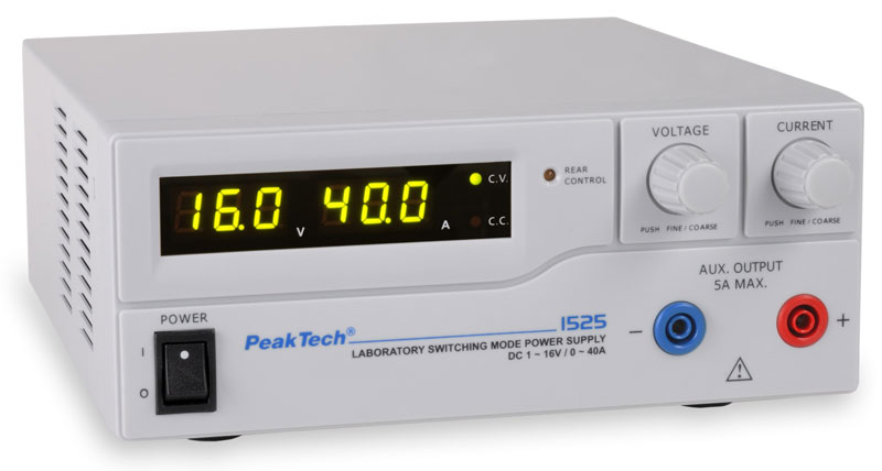 PeakTech 1525 DC Power Supply (16 V, 40 A)