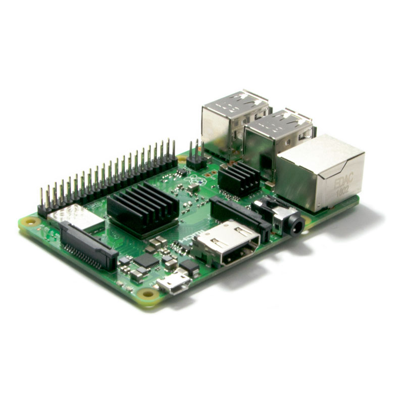 Raspberry Pi 3 B+ (with pre-mounted Heatsinks)