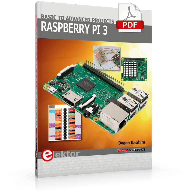 Raspberry Pi 3 – Basic to Advanced Projects (E-Book)