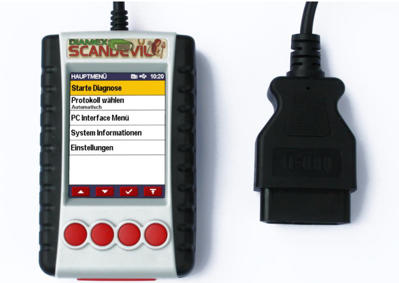 Diamex Scandevil OBD2 Handheld Scanner with full-color display